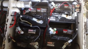 Overhead of the batteries