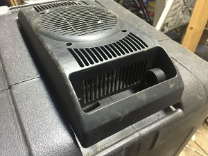 Side view of cooling unit